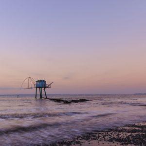 Pêcherie au coucher de soleil